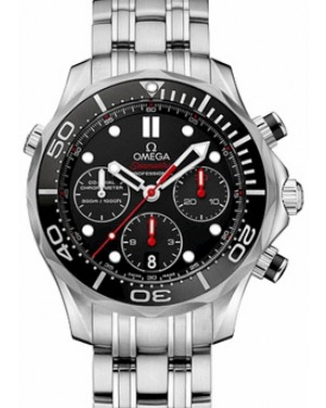 Omega 212.30.42.50.01.001 Seamaster Diver 300M Co-Axial Chronograph 41.5mm Black Stainless Steel BRAND NEW