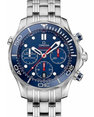 Omega 212.30.42.50.03.001 Seamaster Diver 300M Co-Axial Chronograph 41.5mm Blue Stainless Steel BRAND NEW
