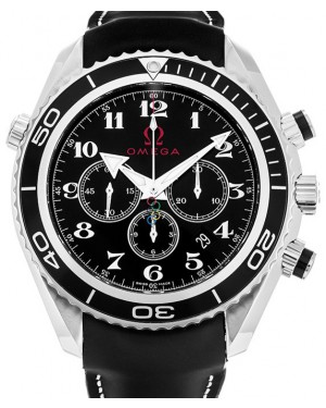 Omega 222.32.46.50.01.001 Planet Ocean 600M Co-Axial 45.5mm Black Arabic Stainless Steel Rubber BRAND NEW