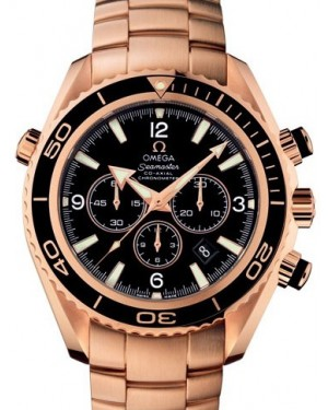 Omega 222.60.46.50.01.001 Planet Ocean 600M Co-Axial 45.5mm Black Rose Gold BRAND NEW