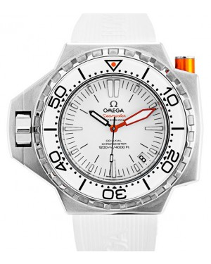 Omega 224.32.55.21.04.001 Seamaster Ploprof 1200M 55mm x 48mm White Stainless Steel Rubber BRAND NEW
