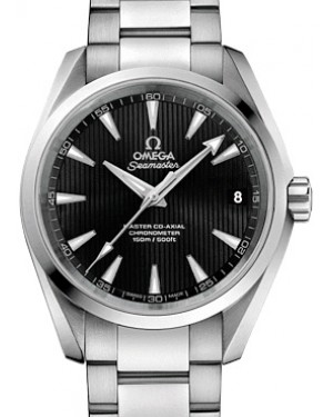 Omega Seamaster Aqua Terra 231.10.39.21.01.002 Black Index 150 M Co-Axial Stainless Steel 38.5mm - BRAND NEW