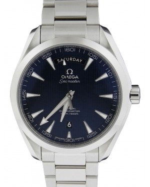 Omega Seamaster Aqua Terra 150M Co-Axial Day-Date 231.10.42.22.03.001 41.5mm Blue Index Stainless Steel BRAND NEW