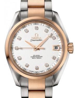 Omega Seamaster Aqua Terra Chronometer 231.20.39.21.52.002 38.5mm Silver Diamond Rose Gold Stainless Steel - BRAND NEW