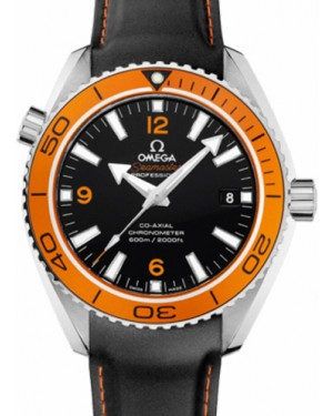 Omega 232.32.42.21.01.004 Planet Ocean 600M Co-Axial 42mm Orange Black Arabic Stainless Steel Rubber BRAND NEW