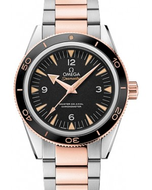 Omega 233.20.41.21.01.001 Seamaster 300 Master Co-Axial 41mm Black Arabic Index Rose Gold Stainless Steel BRAND NEW