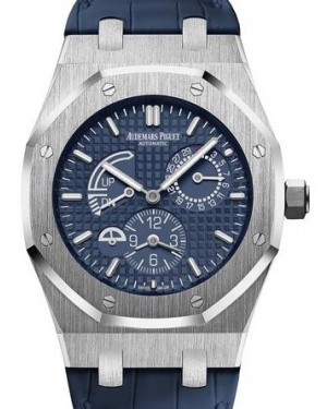Audemars Piguet Royal Oak Dual Time 26124ST.OO.D018CR.01 Blue Index Stainless Steel Leather 39mm Automatic - BRAND NEW