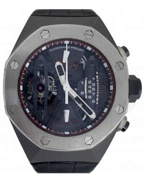 Audemars Piguet 26223TI.OO.D099CR.01 Royal Oak Concept Tourbillon Chronograph 44mm Openworked Titanium Leather BRAND NEW