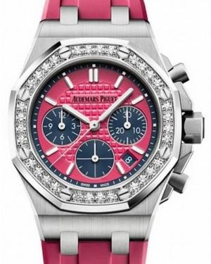 Audemars Piguet Royal Oak Offshore Selfwinding Chronograph 26231ST.ZZ.D069CA.01 Pink Index Diamond Stainless Steel Rubber 37mm BRAND NEW