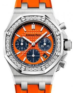 Audemars Piguet Royal Oak Offshore Selfwinding Chronograph 26231ST.ZZ.D070CA.01 Orange Index Diamond Stainless Steel Rubber 37mm BRAND NEW