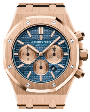 Audemars Piguet Royal Oak Chronograph 26331OR.OO.1220OR.01 Blue Index Rose Gold 41mm - BRAND NEW