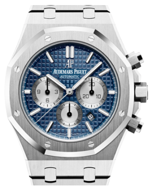 Audemars Piguet Royal Oak Chronograph 26331ST.OO.1220ST.01 Blue Index Stainless Steel 41mm - BRAND NEW