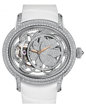 Audemars Piguet 26354BC.ZZ.D204CR.01 Millenary Tourbillon 45mm Diamond Paved Rose Gold Hands White Gold Leather BRAND NEW