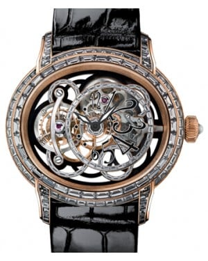 Audemars Piguet 26381OR.ZZ.D102CR.01 Millenary Onyx Baguette-Set 45mm Black Baguette Diamond Set Arabic Rose Gold Leather BRAND NEW