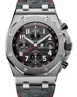 "Audemars Piguet Royal Oak Offshore ""Vampire"" Chronograph 42mm Black Arabic Stainless Steel Leather 26470ST.OO.A101CR.01 - PRE-OWNED"