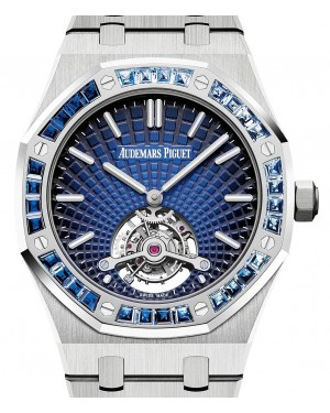 Audemars Piguet Royal Oak Tourbillon Extra-Thin 26521PT.YY.1220PT.01 Blue Index Platinum 41mm - BRAND NEW