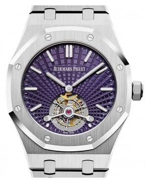 Audemars Piguet Royal Oak Tourbillon Extra-Thin 26522ST.OO.1220ST.01 Purple Index Stainless Steel 41mm - BRAND NEW