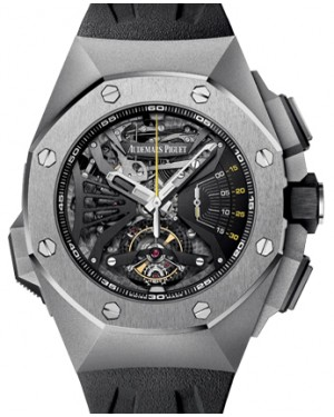 Audemars Piguet 26577TI.OO.D002CA.01 Royal Oak Concept Supersonnerie 44mm Openworked Titanium Rubber BRAND NEW