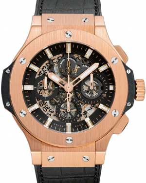 Hublot Big Bang Aero Bang 311.PX.1180.GR Skeleton Index Rose Gold & Leather 44mm BRAND NEW