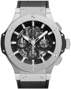 Hublot Big Bang Aero Bang 311.SX.1170.GR Skeleton Index Stainless Steel & Leather 44mm BRAND NEW