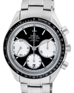Omega 326.30.40.50.01.002 Speedmaster Racing Co-Axial Chronograph 40mm Black White Index Stainless Steel BRAND NEW