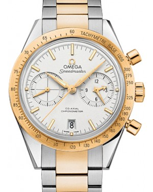 Omega 331.20.42.51.02.001 Speedmaster '57 Co-Axial Chronograph 41.5mm White Yellow Gold Stainless Steel BRAND NEW