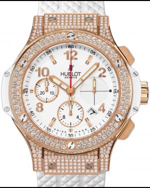 Hublot Big Bang 341.PE.2010.RW.1704 White Arabic Diamond Set Rose Gold Case Rubber 41mm BRAND NEW