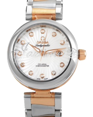 OMEGA 425.20.34.20.55.001 Ladymatic 34 mm Steel-Red Gold BRAND NEW