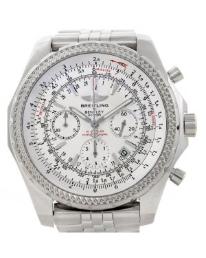 Breitling Bentley A25362 White Motors Stainless 48mm Large Mens
