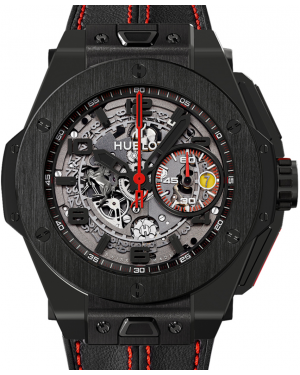Hublot Big Bang Unico Ferrari 401.CX.0123.VR Skeleton Red Arabic Black Ceramic Case Leather 45mm BRAND NEW