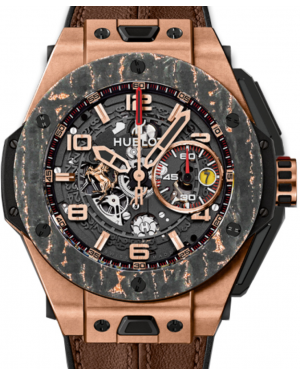 Hublot Big Bang Unico Ferrari 401.OJ.0123.VR Skeleton Arabic Carbon Fiber Rose Gold Bezel & Rose Gold Case Leather 45mm BRAND NEW