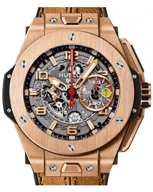 Hublot Big Bang Unico Ferrari 401.OX.0123.VR Skeleton Arabic Rose Gold Case & Gold Leather 45mm BRAND NEW