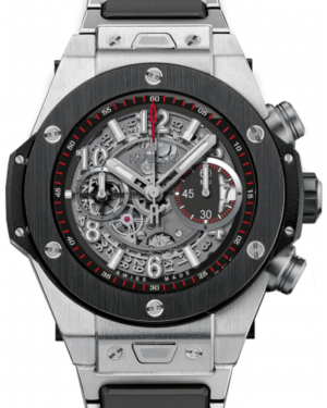 Hublot Big Bang Unico 411.NM.1170.NM Skeleton Arabic Black Ceramic Bezel & Titanium Case 45mm BRAND NEW