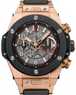 Hublot Big Bang Unico 411.OM.1180.OM Skeleton Arabic Black Ceramic Bezel & Rose Gold Case 45mm BRAND NEW
