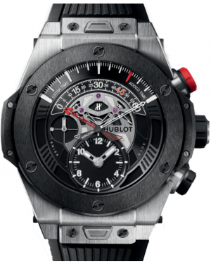 Hublot Big Bang Unico Bi-Retrograde Chronograph 413.NM.1127.RX Black Dial Black Ceramic Bezel & Titanium Case Rubber 45mm BRAND NEW