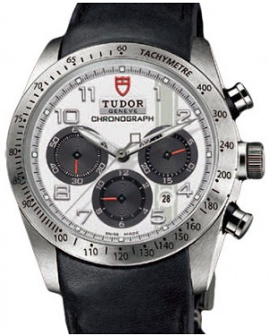 Tudor Fastrider Chronograph 42000 White Arabic Stainless Steel & Leather 42mm BRAND NEW