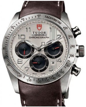 Tudor Fastrider Chronograph 42000 Silver Arabic Stainless Steel & Leather 42mm BRAND NEW
