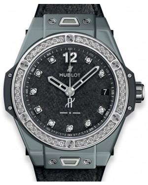 Hublot Big Bang One Click Italia Independent Dark Grey Velvet 465.FX.277F.NR.1204.ITI18 Grey Diamond Bezel Ceramic Fabric 39mm - BRAND NEW