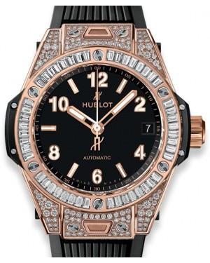 Hublot Big Bang One Click King Gold Jewellery 465.OX.1180.RX.0904 Black Arabic / Index Diamond Bezel King Gold Rubber 39mm - BRAND NEW