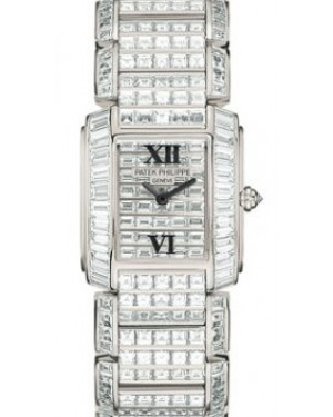 Patek Philippe 4908/101G-001 Twenty~4 Ladies 24 x 27.75mm Diamond Set White Gold Quartz BRAND NEW
