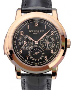 Patek Philippe 5074R-001 Grand Complications Day-Date Annual Calendar Moon Phase 42mm Black Arabic Rose Gold Automatic BRAND NEW