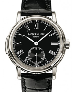 Patek Philippe 5078P-010 Grand Complications 38mm Black Roman Platinum Leather Automatic BRAND NEW