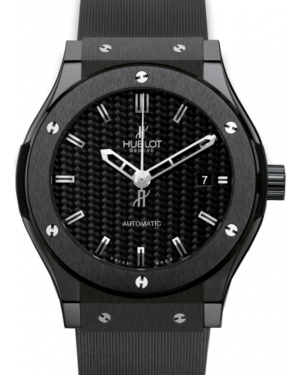 Hublot Classic Fusion 511.CM.1770.RX Carbon Fiber Index Black Ceramic & Rubber 45mm BRAND NEW
