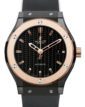 Hublot Classic Fusion 511.CO.1780.RX Carbon Fiber Index Fixed Rose Gold Bezel & Black Ceramic Rubber 45mm BRAND NEW