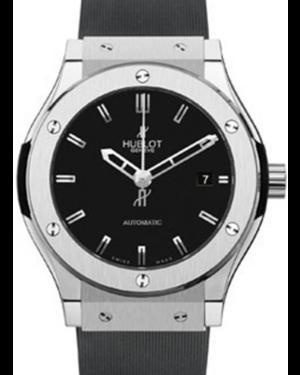 Hublot Classic Fusion 511.NX.1170.RX Black Index Titanium & Rubber 45mm BRAND NEW