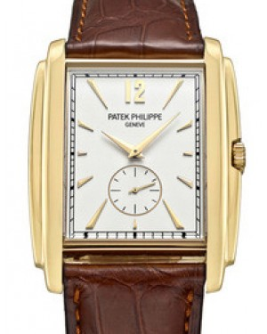 Patek Philippe 5124J-001 Gondolo 33.4 x 43mm White Opaline Index Yellow Gold Leather Manual BRAND NEW
