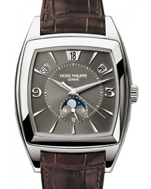 Patek Philippe 5135G-010 Gondolo Calendario Annual Calendar 38 x 51mm Grey Index White Gold BRAND NEW
