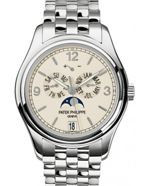 Patek Philippe 5146/1G-001 Complications Annual Calendar Moon Phase Date 39mm Cream Arabic Index White Gold Automatic BRAND NEW