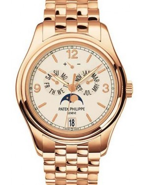 Patek Philippe 5146/1R-001 Complications Annual Calendar Moon Phase Date 39mm Cream Arabic Index Rose Gold Automatic BRAND NEW