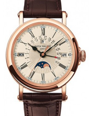 Patek Philippe 5159R-001 Grand Complications Day Month Annual Calendar Moon Phase 38mm White Opaline Roman Rose Gold Leather Automatic BRAND NEW